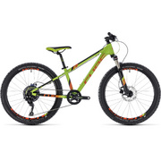 "CUBE KID 240 RACE GREEN/ORANGE 2018 24"" - Black"