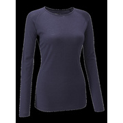 Chapeau!- Ladies Merino LS Base Layer- Deep Ocean- Medium - Deep Ocean