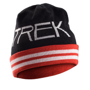 Trek Vintage Turnback Beanie - Black;red