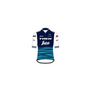 Santini Trek-Segafredo Men's Team Replica Cycling Jersey - Blue