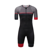 SANTINI SLEEK 777 SHORT SLEEVE TRISUIT GTR PAD - Red