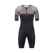 SANTINI SLEEK 777 SHORT SLEEVE TRISUIT GTR PAD - Grey