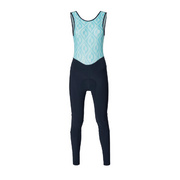 SANTINI FASHION CORAL WOMENS BIB-TIGHTS - Blue