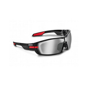 Koo Open Smoke Mirror Lenses Black Small - Black/red