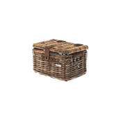 BASIL DENTON RATTAN FRONT STORAGE BOX - Brown