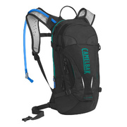 CAMELBAK WOMEN'S LUXE HYDRATION PACK 2018: BLACK/COLUMBIA JADE 3L/100OZ - Black/columbia Jade