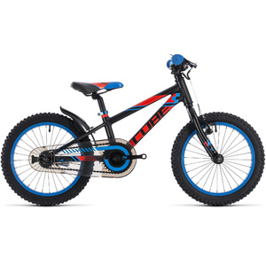 CUBE KID 160 BLACK/FLASHRED/BLUE 2018 16""