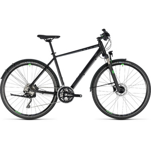 CUBE CROSS ALLROAD BLACK/GREEN 2018 50 CM