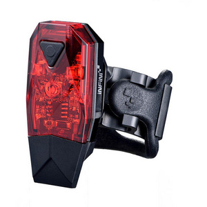 Mini-Lava super bright micro USB rear light, black with red lens