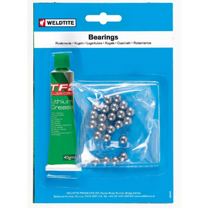 "Weldtite 3/16"" Ball Bearings & Grease (36 Balls)"