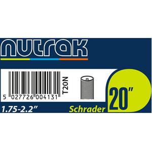20 x 1.75 - 2.125 inch Schrader inner tube