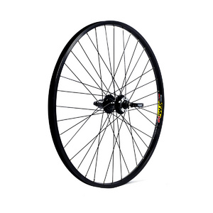WILKINSON 27.5 650B REAR WHEEL - BLACK DOUBLE WALL MACH 1 DISC MTB RIM - DISC/V-BRAKE Q/R BLACK QUANDO HUB SCREW ON, 32 HOLE