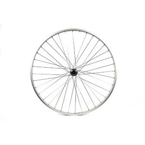 Wilkinson 27x1 1/4 Rear Wheel - Silver Single Wall - Solid axle, Screw on hub, Silver spokes, 36 hole