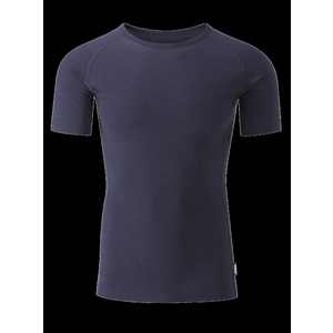 Chapeau!- Mens Merino SS Base Layer- Deep Ocean- Medium