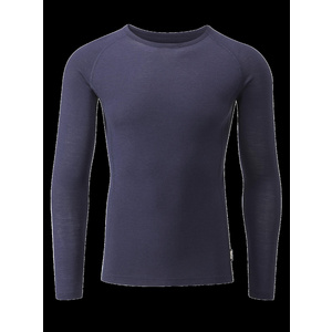 Chapeau!- Mens Merino LS Base Layer- Deep Ocean- Medium