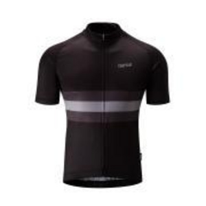 Chapeau! Mens Tempo Hoop Stripe Jersey  Black Small
