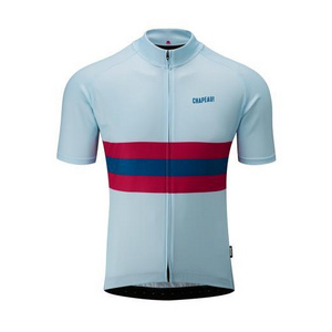 Chapeau! Mens Tempo Hoop Stripe Jersey  Clear Sky Small