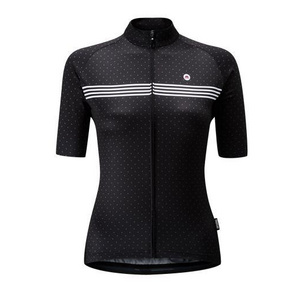 Chapeau! Ladies Madeleine Polka Stripe Jersey  Rich Black XS