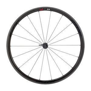 Zipp 202 Firecrest Carbon Clincher Front Wheel 18 spokes Black Decal
