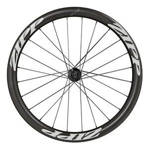 Zipp 302 Carbon Clincher Disc Brake 76D Front (White Decal) - Includes Quick Release 12X100 & 15X100 Thru-Axle Caps