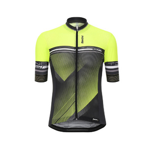 Santini Tono Short Sleeve Jersey Flo Yellow