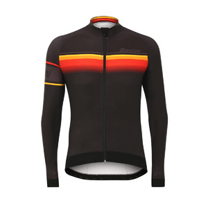 Santini Sleek Lombardia Aquazero Long Sleeve Race Jersey Black