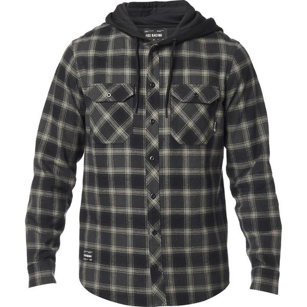 Fox Avalon Hooded Flannel [Blk]