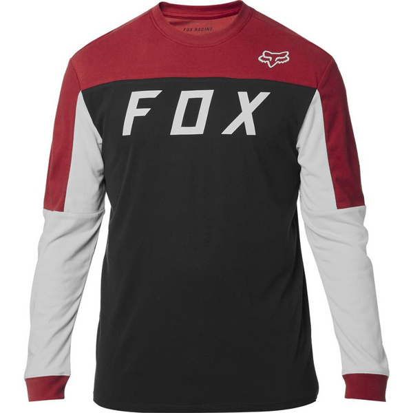 Fox Grizzled Ls Airline Knit [Blk/Rd]