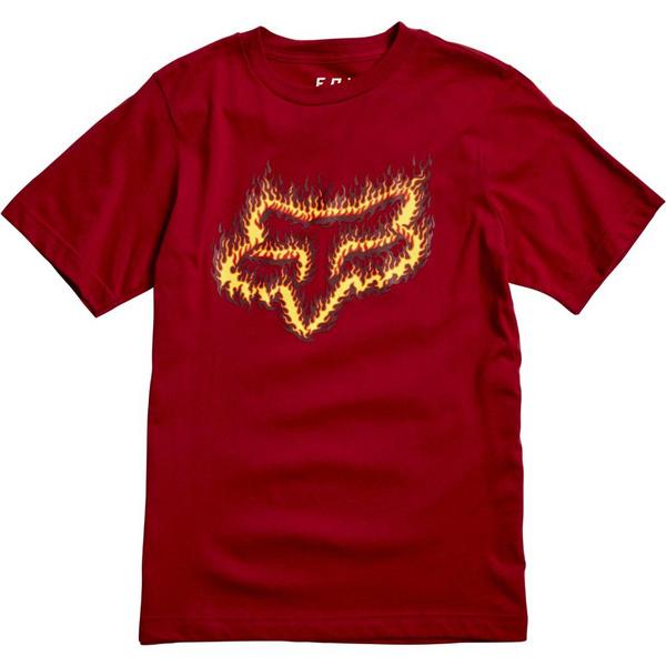 Fox Youth Flame Head Ss Tee [Crdnl]