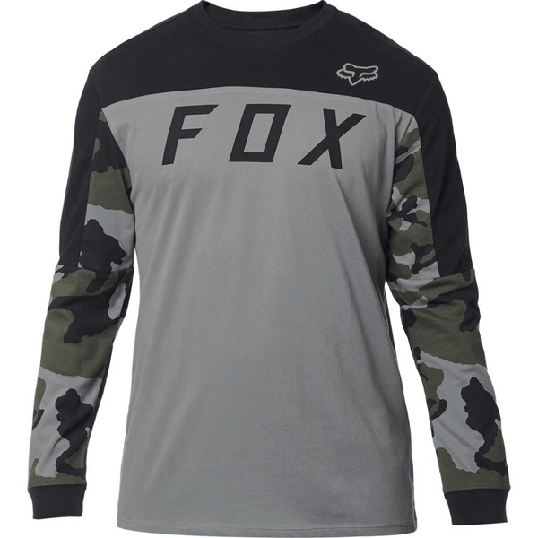 Fox Grizzled Ls Airline Knit [Gry Cam]