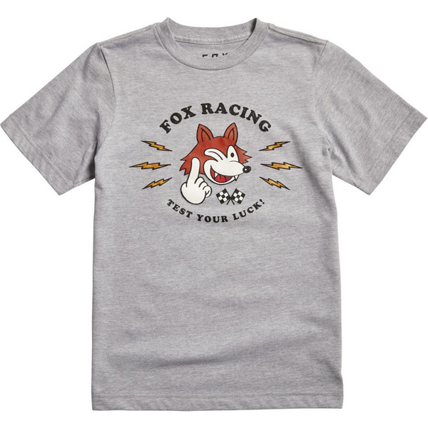 Fox Youth Test Your Luck Ss Tee [Lt Htr Gry]