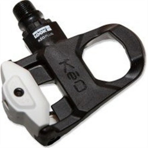 LOOK KEO Plus Black/White Pedals Cromo Axle w/ KEO Cleat Grey 140g
