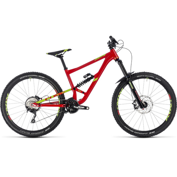 Cube Hanzz 190 Race 27.5 Red/Lime 2018