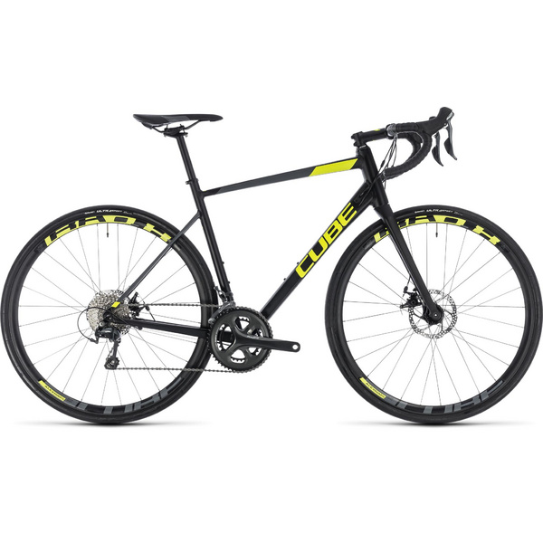 Cube Attain Race Disc Black/Flashyellow 2018