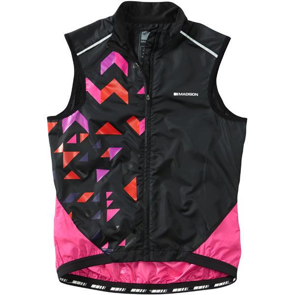 Sportive women's windproof shell gilet - Black