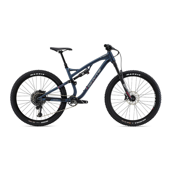 WHYTE T-130 S EXTRA SMALL Matt Midnight with Pewter/Dark Red