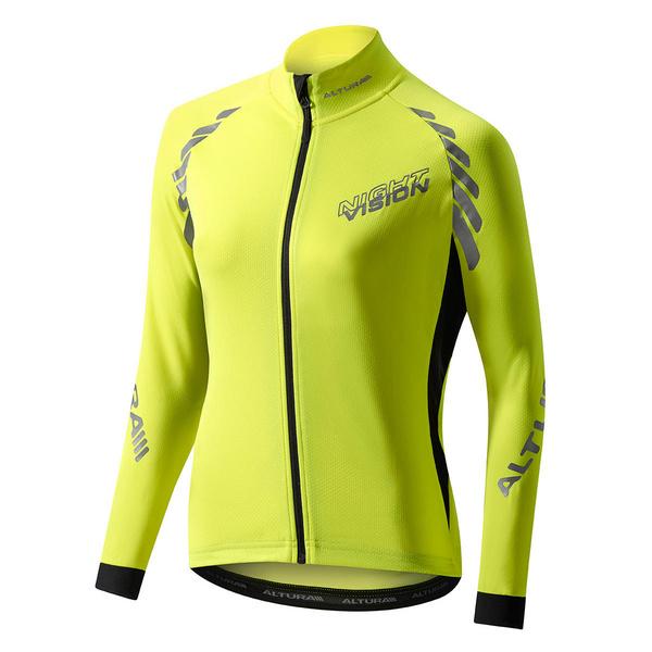 Altura Women'S Night Vision Long Sleeve Jersey Yellow 10