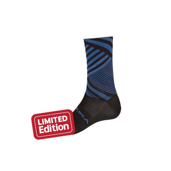 Endura Oblixe Graphic Sock: Blue, mens