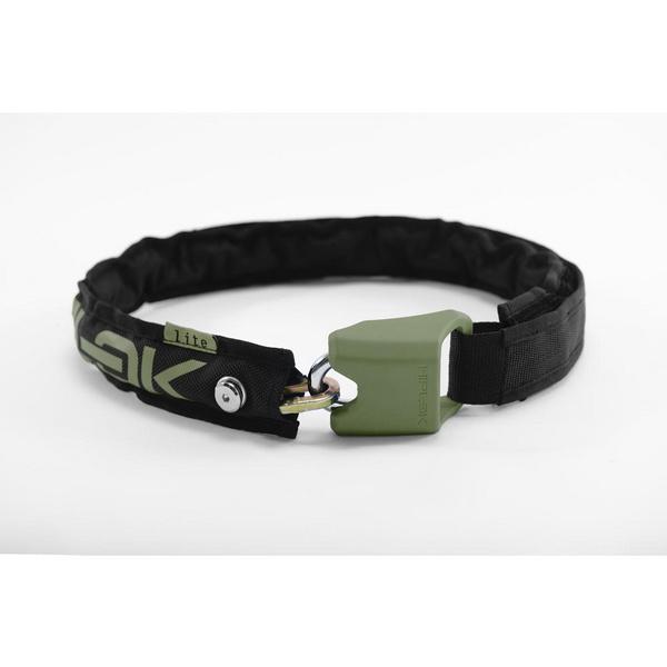 Hiplok LITE Wearable Chain Lock 6mm x 75cm - waist 24-44 inches (Bronze Sold Secure) Black/Urban Green