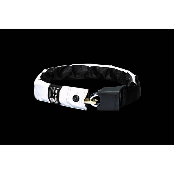 Hiplok V1.5 Wearable Chain Lock 8mm x 90cm - waist 24-44 inches (Silver Sold Secure) High Visibility