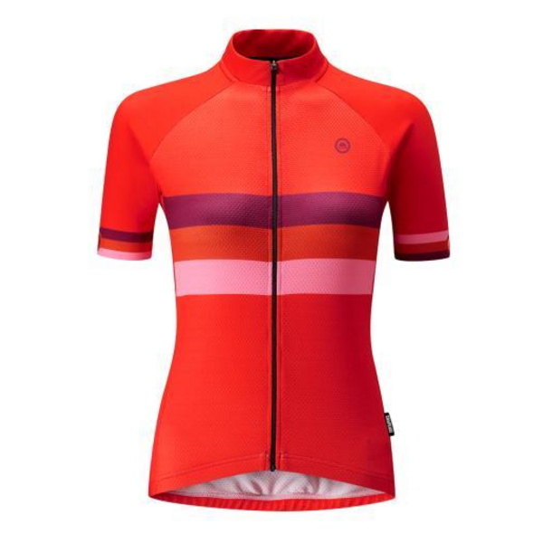 Chapeau! Ladies Club Jersey Stripe  Vivid Orange XS