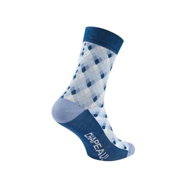 Chapeau! Midweight Cotton Blend Socks Pattern Tall Afternoon Sky 44-47
