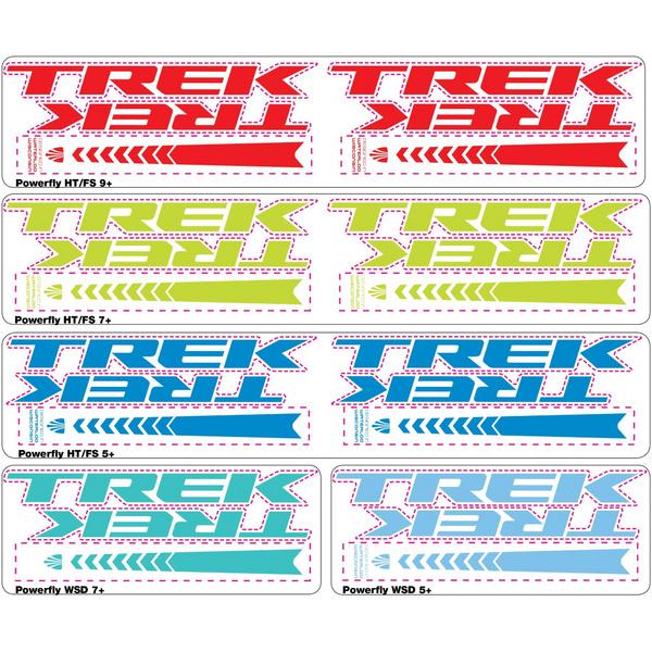 Trek Colorways Battery Decal Set