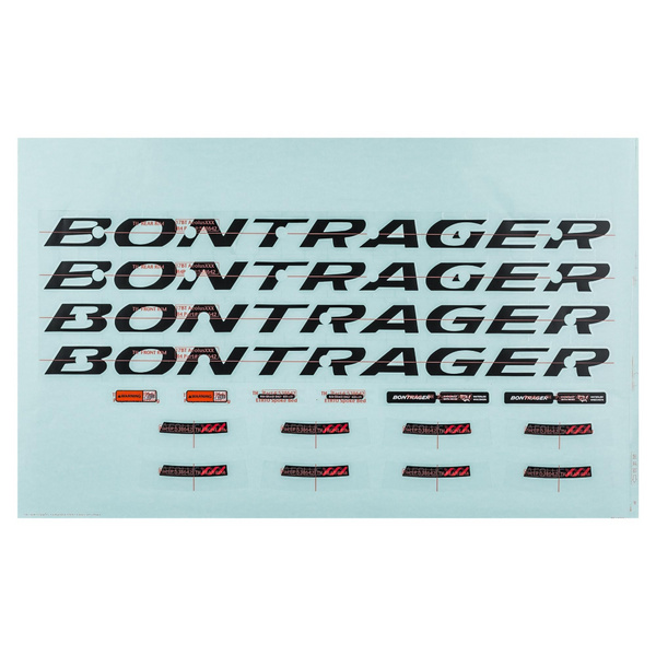 Bontrager Wheelsystem Replacement Decals