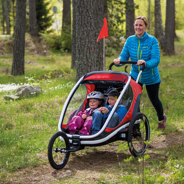 Hamax Outback Child Transport Trailer With Stroller Wheels