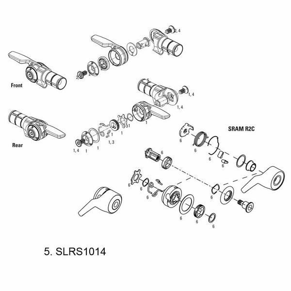 SRAM Bar Lock Assy TT900/TT500 Front