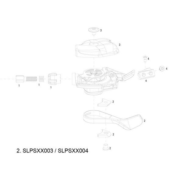 SRAM Pull Lever Kit for XX Trigger Left