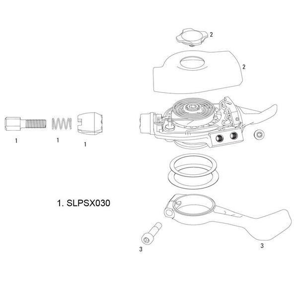 SRAM Barrel Adjuster X0 Trigger 2011 10spd (2 pcs)