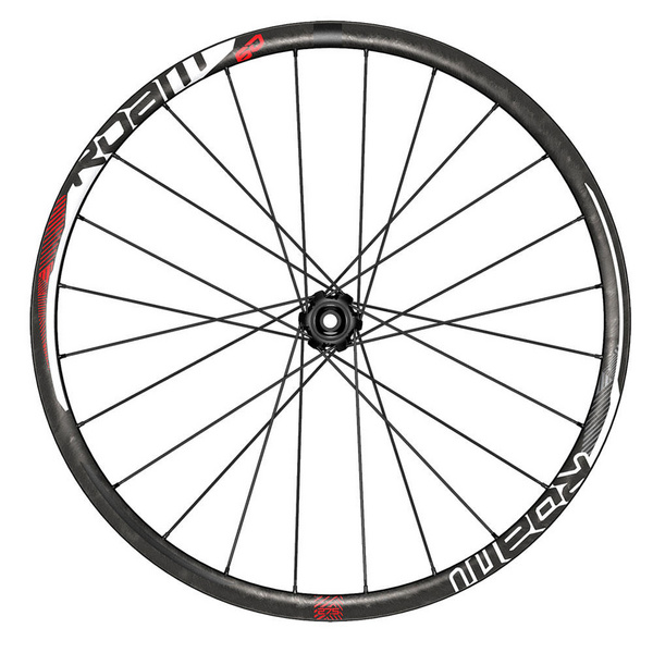 "SRAM Roam 60 - 26"" - Front - UST Carbon Clincher - Tubeless (Inc. QR, 15mm & 20mm Through Axle Caps)"