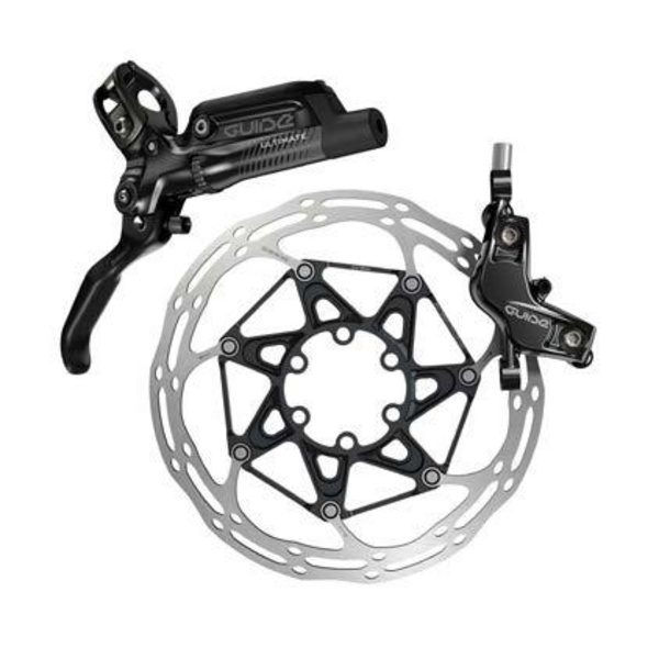 Sram Guide Ultimate - Front 950mm Hose - Carbon Lever - Ti Hardware - (Reach, SwingLink, Contact) Black Ano  (Rotor/Mount sold separately)